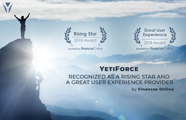 YetiForce CRM software receives awards from platform for SaaS reviews